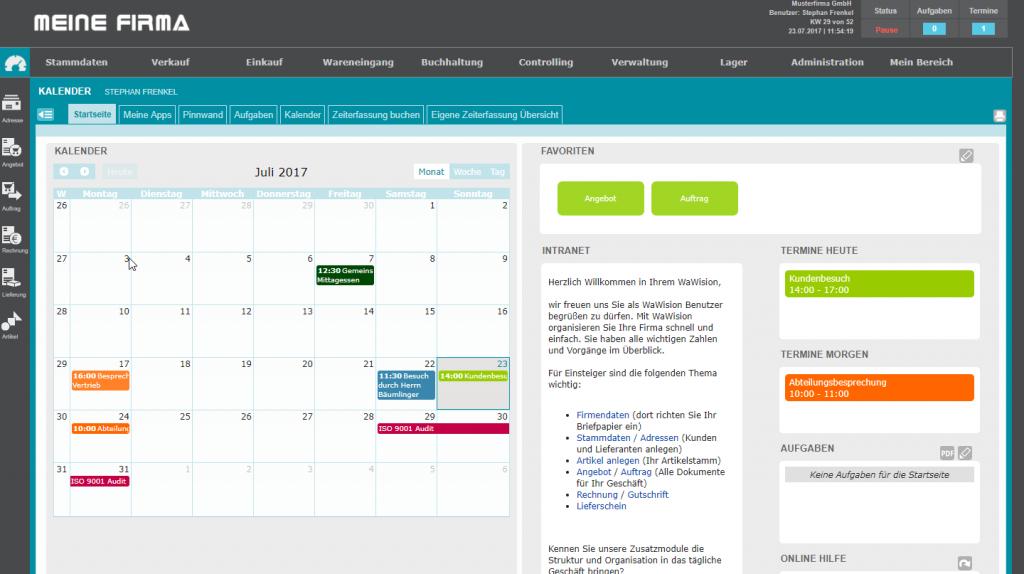 Kalender / Aufgaben / Pinnwand